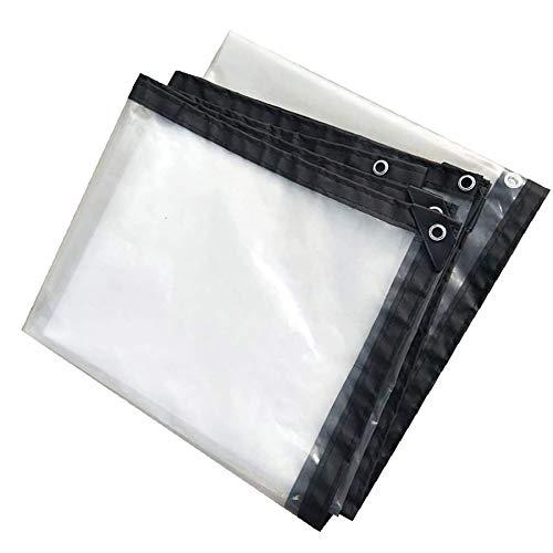 BWBG Lona Transparente Impermeable 3x4m, Lona Transparente para Jardín a Prueba De Lluvia Carpa Exterior De Plástico para Plantas Invernadero Pet Hutch Roof