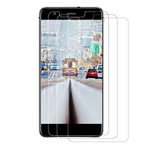 3 piezas: cristal templado para Huawei P10 Lite, película de protección de pantalla, dureza 9H, antihuellas digitales y antiaceites, resistente a los arañazos, HD película protectora