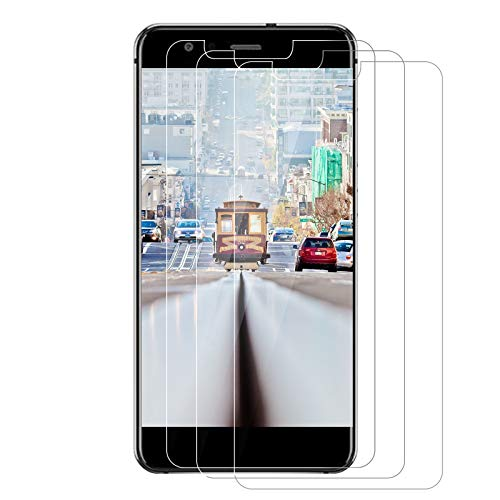 3 pezzi in vetro temperato per Huawei P10 Lite, pellicola di protezione per schermo, durezza 9H, anti-impronte digitali e anti-olio, resistente ai graffi per Huawei P10 Lite, trasparente