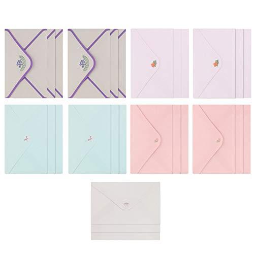 jojofuny Conjunto de 45 peças de papelaria e envelopes, cartões de convite com envelopes A5 para Feliz Natal Feliz Ano Novo Casamento Bênção