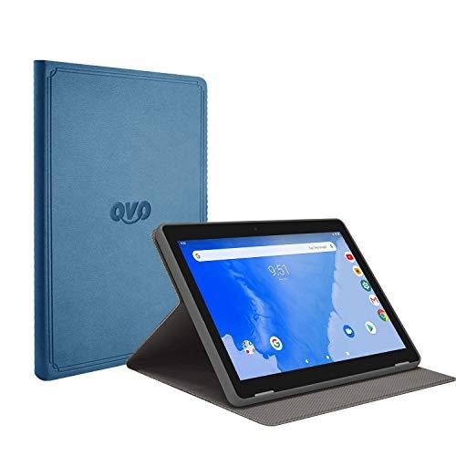 Winnovo T10 10-Zoll-Tablet-Tasche - Ultra-schlanke Standfunktion aus PU-Leder mit Magnetverschluss (Blau)