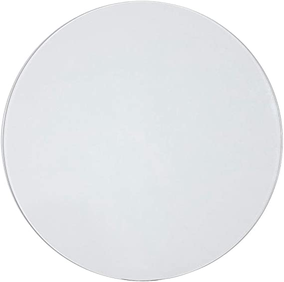 Round Tempered Glass Table Top 1//4 Thick Glass, 18 Diameter 1-Inch Beveled Edge Premium Round Circular Plate Glass