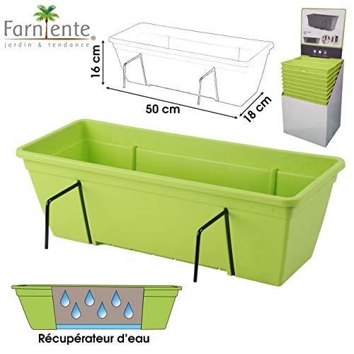 Garden Style Jardiniere DE Balcon BAC Fleur Plastique A REMBARDE A Suspendre pour Jardin Maison OU TERRASSE DE Balcon Appartement
