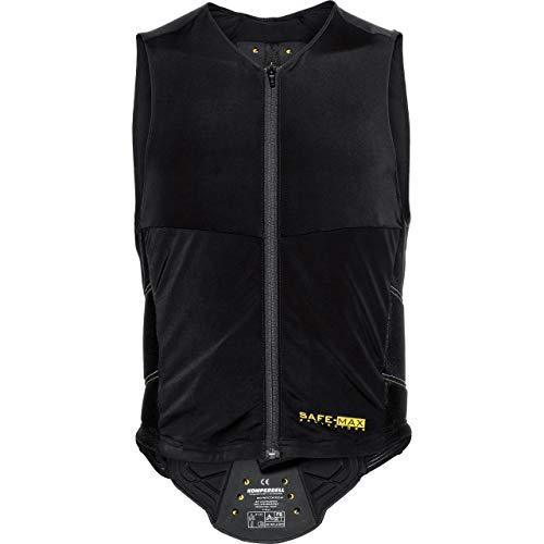 Safe Max® Protektorenweste Motorrad Herren und Damen Rückenprotektorenweste 1.0, integrierter, stufenloser anpassbarer Nierengurt, Protektorenshirt, besonders atmungsaktive Schutzzone, Schwarz L