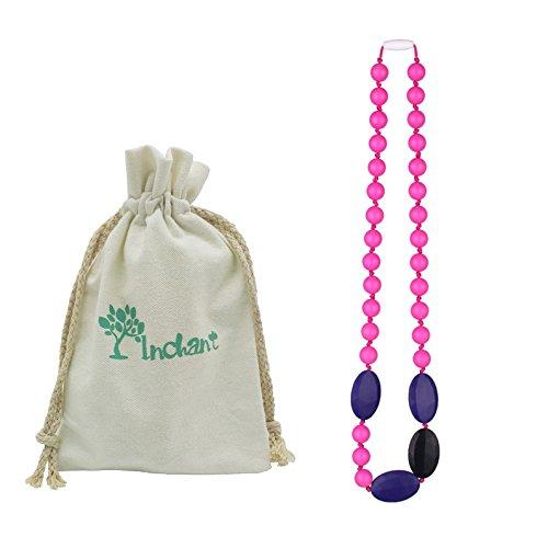 Collier silicone Teething - Baby Safe pour Mom To Wear - Perles Sans BPA Mâcher - élégant et naturel pour maman