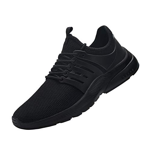 DYKHMILY Steel Toe Sneakers for Men Waterproof Lightweight Safety Work Shoes Slip Resistant Puncture Proof Indestructible Shoes(10,Black,D91815)