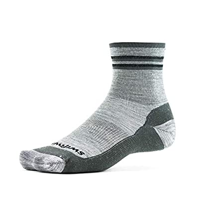 Swiftwick- PURSUIT HIKE FOUR-UL Trail & Hiking Socks, Merino Wool (Heather/Gray, Large)