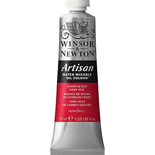 Winsor & Newton Artisan Water Mixable Oil Colour, 37ml Tube, Cadmium Red Deep Hue