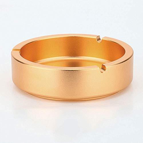 XXSHN Cenicero vintage de metal cenicero con uso en interiores e exteriores, oro/plata (color oro), tamaño: plata, color: plateado