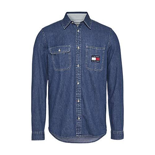 Tommy Hilfiger TJM Denim Badge Shirt, blau(adenim (15)), Gr. XS