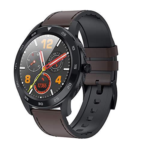 Smartwatch De Negocios para Hombres, ECG PPG HRV Health Smart Watch con Calorías Temperatura Temperatura Monitoreo De Ritmo Cardíaco GPS Toma Fotos 25 Funciones,F6