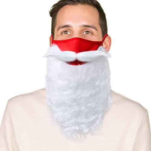 NUWIND Kit de disfraz para barba de Papá Noel para Navidad, cosplay, accesorios para adolescentes y adultos en decoración de Navidad