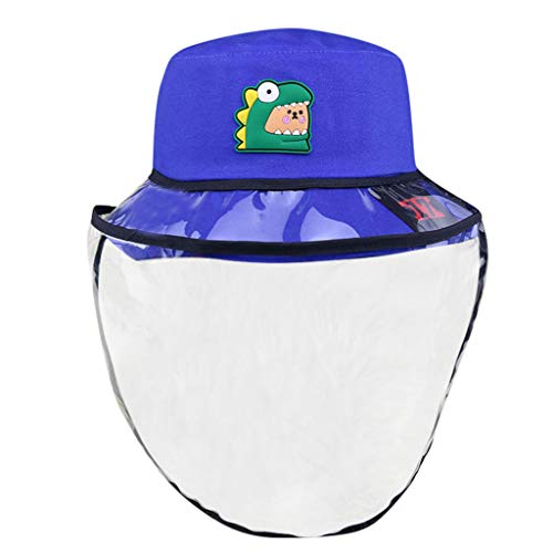 UINGKID Fischerhut Baseball Kappe Schirmmütze Sonnenhut Anti Nebel staubdicht Schutzhut Mit transparenter Schutzfolie Unisex Kind Schüler Hut