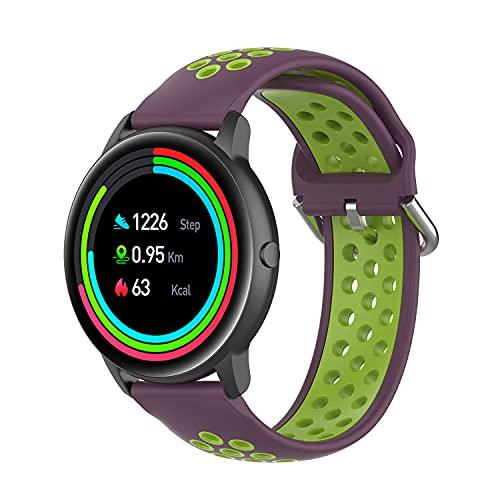 Chainfo Correa de Reloj Reemplazo Compatible con Xiaomi Haylou Solar LS05 / Haylou RT LS05S, la Correa de Reloj Watch Band Accessorios (Pattern 8)