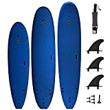SBBC ||- Surfboard -||- 8' Verve Soft Top Surfboard -||- Wax Free Surfboards -||- Performance Focused Surf Board Includes Foam Surfboard, Leash, Fins -||- Deluxe Package Options Available -||