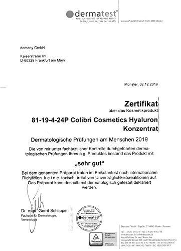 colibri cosmetics Hyaluronsäure serum hochdosiert - testsieger 2021 - natürliche hyaluron anti-aging creme für das gesicht - 50ml von colibri cosmetics - naturkosmetik made in germany