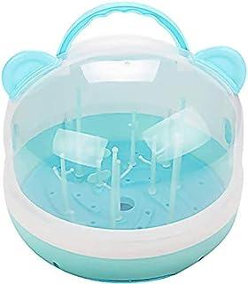 Baby Bottle Drying Rack with Drainer Milk Bottle Holder Newborn Teats Cups Dryer Fee'ding Bottle Drain Rack with Box Handl...