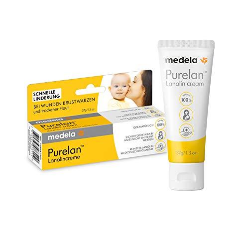 Medela Purelan Brustwarzensalbe, 37g, Lanolin Creme, schnelle Linderung bei wunden Brustwarzen und trockener Haut