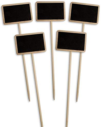 HomeTools.eu - Set di 6 cartelli classici in legno per piante da giardino, per balcone, erbe, giardino, fioriera da 25 cm