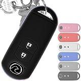 Soft Case Schutz Hülle Auto Schlüssel Key Cover Keyless Schwarz kompatibel mit Mazda 2 3 6 CX-3 CX-5 MX-5 2 Tasten