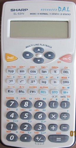 Sharp EL-531WB-BL Translucent Blue Scientific Calculator