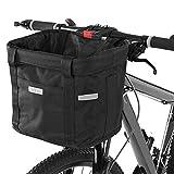 【分解が簡単】自転車のハンドルにバスケットを掛けます。 インストールと削除は簡単です。自転車から取り出すと、持ち運びできるバッグになります,グリーンバッグとしても使用できます。 【防水素材】バスケットは防水性のオックスフォードと防錆アルミフレームで作られており、軽量で濡れたタオルで簡単に拭くことができます。悪天候でも使用できます。 【大容量折りたたみ】自転車用バスケットは折り畳み式のバスケットで、使用していないときに簡単に保管できます。負荷抵抗10KG。 【ドローストリング】内蔵のファスナーポケ...