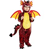 Spooktacular Creations Child Red Dragon Costume for Halloween Trick or Treating Dinosaur Dress-up Pretend Play. (Toddler( 3- 4yrs ))