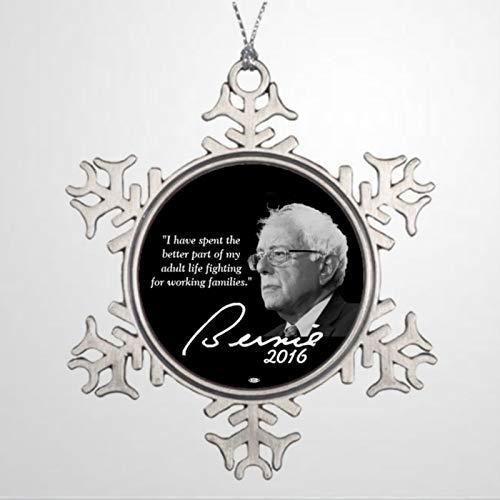 BYRON HOYLE - Árbol de Navidad personalizado para decoración de árbol de Navidad Bernie Sanders President 2016