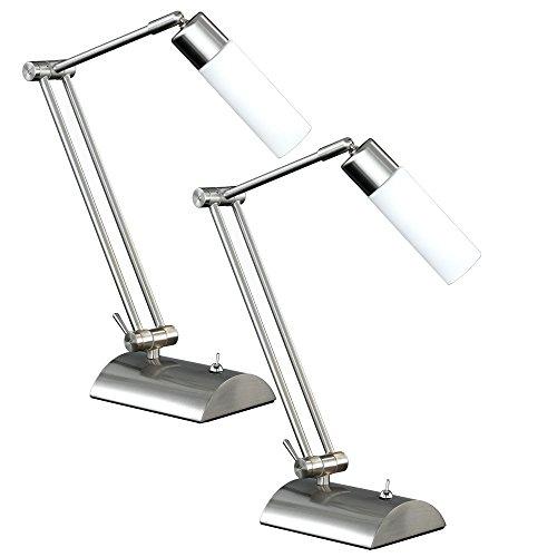 2er Set Tischleuchten Tisch Lampe Schalter beweglich Büro Schreibtisch WOFI KATAR