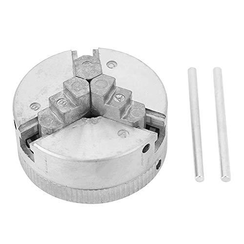Alicer Z011 - Portabrocas giratorio con tres mordazas para torno giratorio autocentrante, mandril de mordaza para mini pinza de diámetro 1,8-56 mm