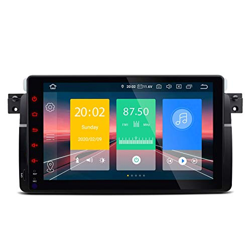 JIBO para B M W E46 M3 Rover75 MG ZT Android 10.0 Auto Estéreo GPS Navegación Multimedia Jugador 9' Tocar Pantalla Auto Cabeza Unidad Nav Sat Bluetooth WiFi SWC Video Receptor