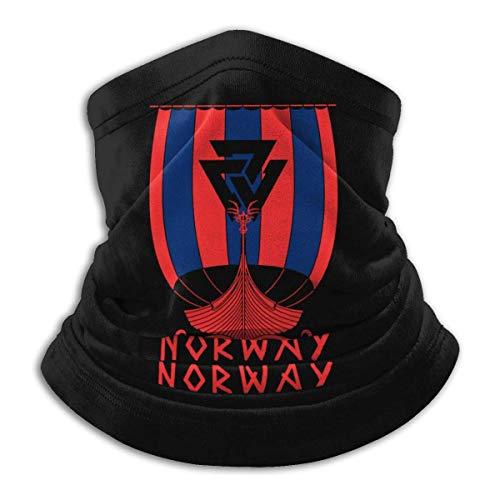 Sturmhaube, norwegische Flagge, Wikinger, Schiff, Drachenboot, atmungsaktiv, Mikrofaser, Halswärmer, Unisex