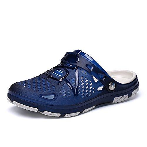 SITAILE Clogs Schuhe Herren Clog Sandalen Pantoffeln Strandschuhe Flach Männer Badeschuhe Gartenschuhe Latschen rutschfeste Outdoor Für Sommer (44 EU, A-blau)