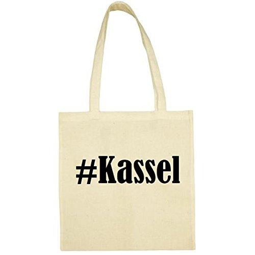 Tasche #Kassel Größe 38x42 Farbe Natur Druck Schwarz