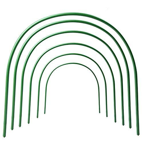 jycra Gewächshaus Unterstützung Hoops, rostfrei Grow Tunnel für Anlage Cover Support, Stahl mit Kunststoff beschichtete Spannreifen für Gewächshaus Garten Pflanzen Schutz und Wachsen–6