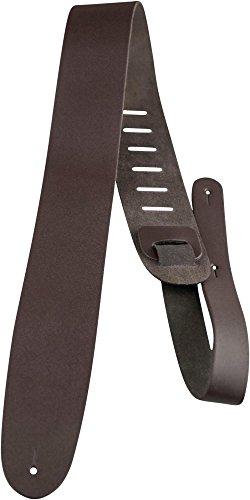 Perri's Leather Ltd PL25BR - Correa para guitarra de cuero, 6,35 cm, color marrón