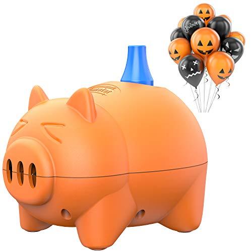 Dr.meter Elektrische Ballonpumpe, Tragbare Schweinchen förmige Ballonaufblasgeräte für Party, Hochzeit, Geburtstag, Werbeaktivitäten und Festdekoration