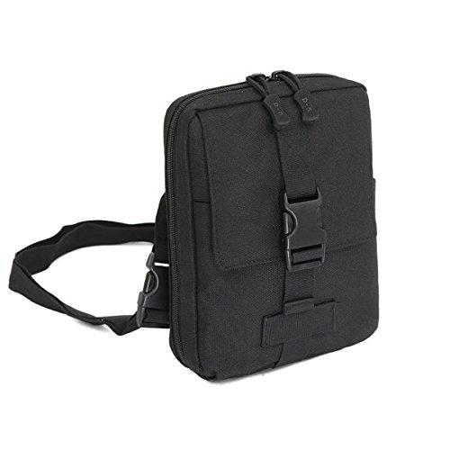 Ruifu Unisexe en nylon pour vélo Lot de l'emballage extérieur tactique Molle Pouch Sac à bandoulière de hanche, noir