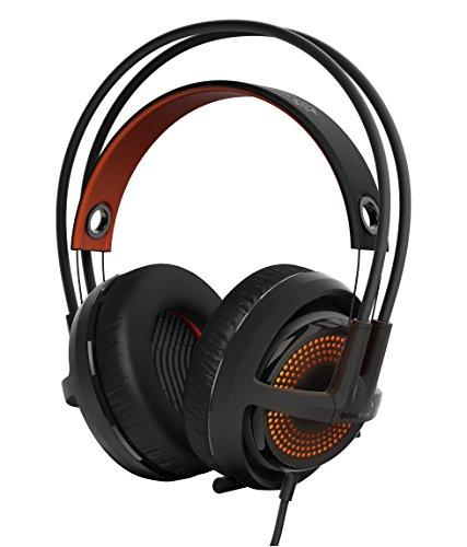 SteelSeries Siberia 350 - Auriculares para juego, DTS 7.1 Surround Sound, iluminación RGB, (PC/Mac/Playstation), color negro