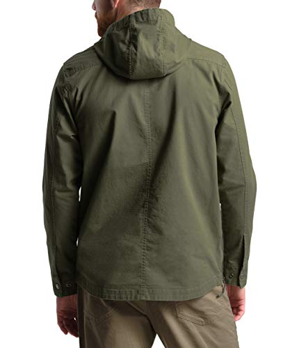 The North Face Men's Battlement Anorak, Burnt Olive Green, XL