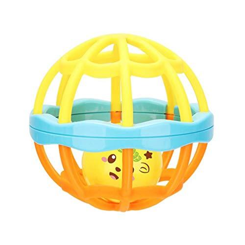 Wenwenzui-DE Neugeborenes Spielzeug Baby Spielzeug Puzzle Hand Ball Loch Ball Rassel Soft Ball Interaktive Mehrfarben Gemischt