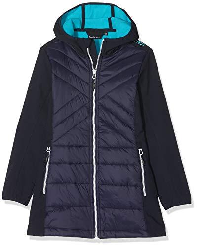 CMP Mädchen Softshell-Hybrid Mantel, Black/Blue, 128