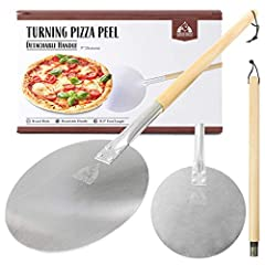 """Easy Handling: 12"""" X 14"""" Aluminum Blade Is Optimally Sized For Easy Maneuvering. Overall Length Is 35.5"""" And Support Pizzas Up To 14"""" In Diameter. Detachable Handle: Long 21.5"""" Natural Wooden Handle Prevents Your Hands From Getting Burned. Detachable..."""