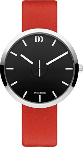 Danish Design Unisex Erwachsene Analog Quarz Uhr mit Leder Armband IQ24Q1198