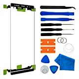 Original Front Outer Touch Screen Glass Lens Replacement for Samsung Galaxy Note 9 N960 6.4 inch with Adhesive and Tool kit(Black)
