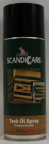 0,4L Scandiccare Teaköl Spray Teak Öl Holzöl Holz