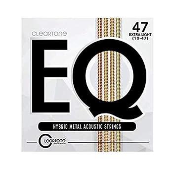 Cleartone EQ Hybrid Metal Acoustic Guitar Strings 10-47 Gauge 7810