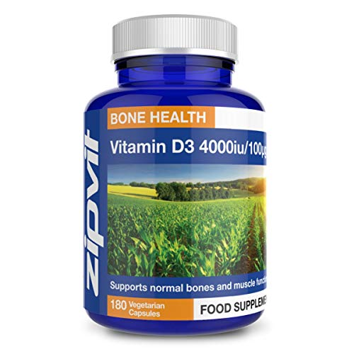 Vitamin D 4000 iu, 180 Vegetarian Softgels. 6 Months Supply. Vegetarian Society Approved.