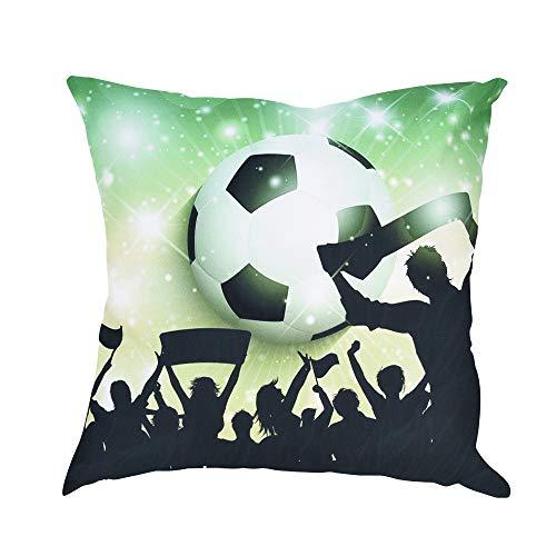 UYSDF Fußball Drucken Kissen Fall Polyester Sofa Auto Polster Abdeckung Zuhause Dekor,45 * 45 cm Kissenbezug