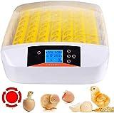 CARLAMPCR Automatische Ei-Inkubator Brutapparat Flächenbrüter Inkubator Brutkasten Brutapparat Mit LED Temperaturanzeige 56 Eier